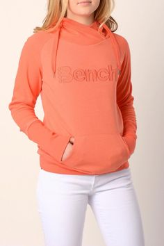 Comfy hoody by BENCH. Great coral color for this summer at the beach. Grab your favorite shorts and spend the day in stylish comfort.    Bench Hoody by Bench. Clothing - Sweaters - Sweatshirts & Hoodies Iowa