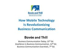 How Mobile Technology Is Revolutionizing Business Communication Powerpoint Program, Mobile Business, Business Writing, Mobile Technology, Textbook, Revolution, Communication, Presentation, Teaching