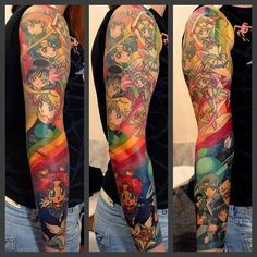 Sailor Moon is beloved all over the world and many fans have chosen to get tattoos of the mystical teen. Badass Tattoos, Body Art Tattoos, I Tattoo, Sleeve Tattoos, Cool Tattoos, Awesome Tattoos, Tatoos, Geek Tattoos, Pride Tattoo