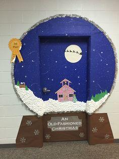 Snow globe classroom door decoration idea!