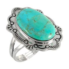 Sterling Silver Ring Turquoise R2332-C75