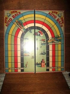 Antique 1922 Spe Dem Auto Racing Game Board Rochester Ny Board Games Racing Games Racing