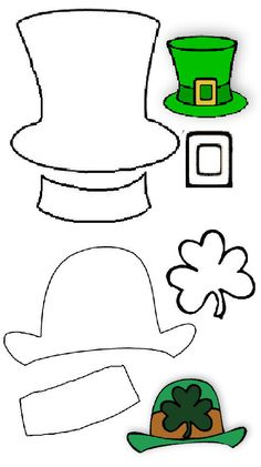 leprechaun hat template printable - leprechaun pattern use the printable outline for crafts