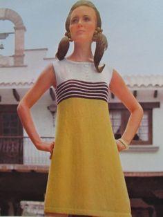 1960's Knitting Patterns, Vintage Pattern Women's Knit Dress Pattern