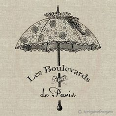Vintage francese elegante ombrellone. Immediata di WingedImages