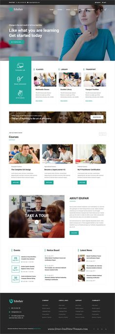 Edufair is clean and modern design 6in1 responsive bootstrap HTML5 #template for #college, #university, school, kindergarten or online courses educational website to live preview & download click on Visit