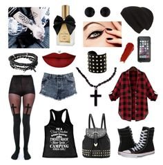 """Rebel!"" by natali-stylinson on Polyvore featuring beauty, Leg Avenue, Converse, Phase 3, LifeProof, Icon, Michael Kors, Anastasia Beverly Hills, Christian Dior and NARS Cosmetics"