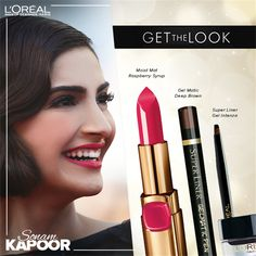 L'Oreal makeup Get the Look with Sonam Kapoor