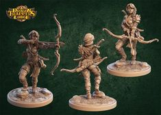 ArtStation - Grimpaw and Lila - Dragon Trappers Lodge , Carl Gonzalez Dragon Miniatures, 28mm Miniatures, Elf Ranger, Dire Wolf, Thing 1, Tabletop Rpg, Archer, Dungeons And Dragons, Prints