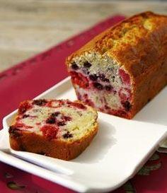 Recette de Cake aux fruits rouges