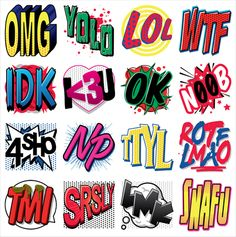 Text Talk #facebooksticker by trandy1.com OMG, these acronyms are SRSLY useful!