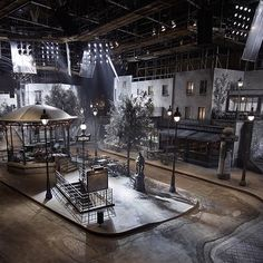 Runway staging for Chanel's Métiers d'Art show in Rome, Italy, for their Pre-Fall 2016 Paris-Rome Collection.
