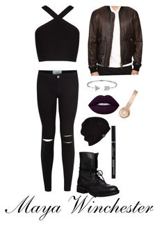 """""""Maya Winchester"""" by emilyramme on Polyvore featuring BCBGMAXAZRIA, Dsquared2, Steve Madden, New Look, UGG Australia, Beats by Dr. Dre, Lime Crime and Bling Jewelry"""