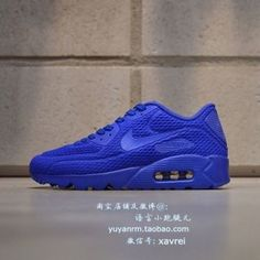 04db18834b Mens Womens Shoes Nike Air Max 90 Ultra Breathe Royal Blue Red Nike Air Max