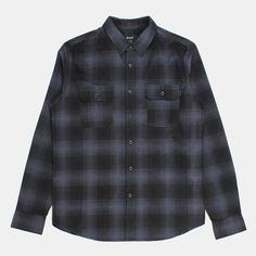 HUF Freeman Long Sleeve Flannel Shirt - Charcoal