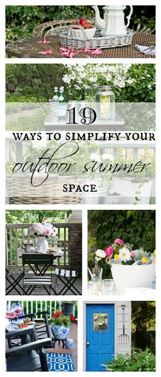 19 fabulous way to simplify your outdoor summer space this year.