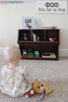 DIY Pottery Barn Kids Bulk Bins   Toy Storage   Free Plans   Rogue Engineer