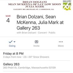 Last night at @clubpassim was so fun! Come by @gallery263 this Friday to start your weekend off right along with @juliamarkmusic & @briandolzani. #boston #cambma #music #bostonmusic #ctmusic #localmusic #livemusic #gallery263 #songwritersintheround #bethereplzzz by laylowmoon March 01 2016 at 01:51PM