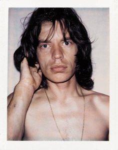 Mick Jagger Polaroid by Andy Warhol, 1975 ✖️🎶✖️ Mick Jagger Rolling Stones, The Rolling Stones, Andy Warhol Photography, Rollin Stones, Moves Like Jagger, Keith Richards, Film Music Books, Aerosmith, Jimi Hendrix