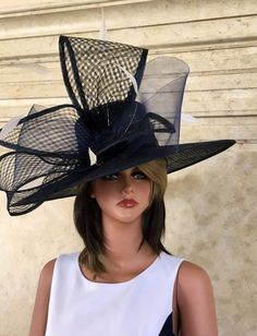Derby Attire, Derby Outfits, Fancy Hats, Big Hats, Crazy Hats, Royal Ascot Hats, Church Fashion, Costume Hats, Kentucky Derby Hats