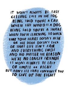 "5,747 Likes, 153 Comments - Dallas Clayton (@dallasclayton) on Instagram: ""It won't always be easy"""