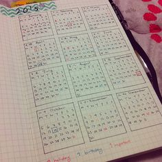 Everyone thinks I'm crazy. Whatever. Made my own planner for 2015. #bulletjournal
