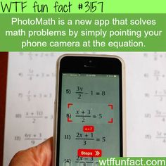 How to solve math equation with your phone camera - WTF fun facts I need this ASAP!!!!