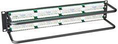 Leviton 69586-U48 eXtreme 6+ Universal Patch Panel, 48-Port, 2RU, CAT 6. Cable Management Bar Included  http://www.instrumentssale.com/leviton-69586-u48-extreme-6-universal-patch-panel-48-port-2ru-cat-6-cable-management-bar-included-3/