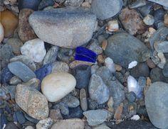Beautiful rare cobalt blue sea glass found in Maine! #seaglass #beach