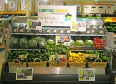 Mixed produce display