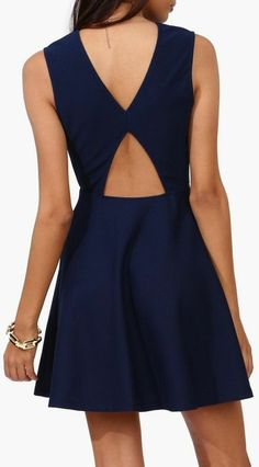 Navy Cutout Criss-Coss Back Dress ♡ L.O.V.E.