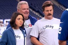 Cast of 'Parks and Recreation' Hang with Andrew Luck and Colts for NFL's Play 60 | Bleacher Report