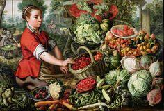 The Vegetable Seller -- Joachim Beuckelaer or Bueckelaer