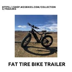 Our pull-behind Fat Tire Bike Trailer is perfect for the all terrain and allows you to take along a lot of additional gear if you are heading some mountain places.