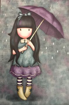 Gorjuss Little Girl Illustrations, Illustration Girl, Cute Images, Cute Pictures, Mode Poster, Doll Drawing, Angel Art, Rock Crafts, Whimsical Art