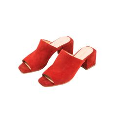 Front Row Shop - If you like:Colorful brazen clothes and accessories that your favorite European blogger would be snapped in.Front Row Shop Suede Mules, $92