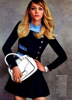 Sasha Pivovarova by Patrick Demarchelier for Vogue US October 2014 - Miu Miu Resort 2015