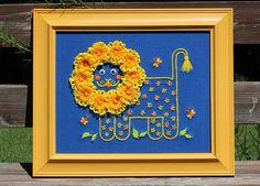 flower loom lion