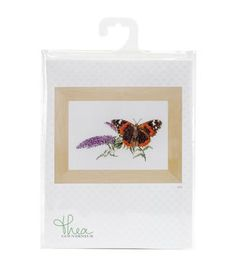 Thea Gouverneur Butterfly-Buddleja On Aida Counted Cross Stitch Kit