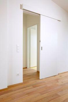 Look at this fantastic cheap interior barn doors - what an original design and development Sliding Door Design, Sliding Doors, Traditional Doors, Bathroom Doors, Interior Barn Doors, Innovation Design, Windows And Doors, Glass Door, House Design