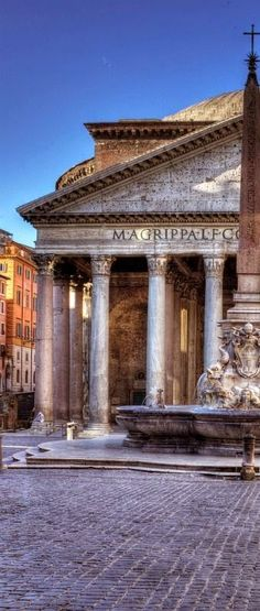 Pantheon, Rome Italy, when we were there, their were thousands of people. This must be either very early on dead of winter.