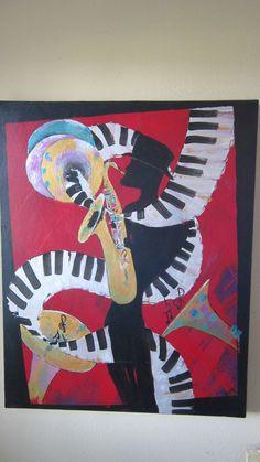 music man by Texas artist Diane Kraft