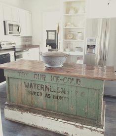rustic kitchen island