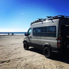 Awesome long weekend on the beach! #4x4van #mercedessprinter #sprinter4x4 #campervan #sprintervanlife #vanlife