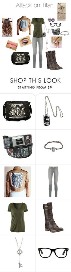 """Attack on Titan"" by otaku-musiclover ❤ liked on Polyvore featuring rag & bone, Timberland, Vivien Frank Designs and Casetify"