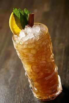 baklava cocktail -1½ oz. spiced rum ¾ oz. walnut liqueur ¼ oz. allspice dram ¾ oz. fresh lemon juice ½ oz. honey syrup (1:1)
