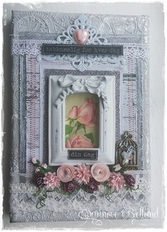 Canvas with metalltape and Prima shabby frame