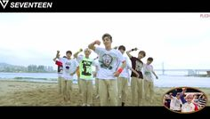 The boys of Seventeen frolic on the beach in a 'Part Switch' version video for 'Adore U' | http://www.allkpop.com/article/2015/06/the-boys-of-seventeen-frolic-on-the-beach-in-a-part-switch-version-video-for-adore-u