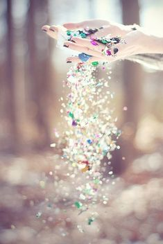 Cast your worries to the wind and then throw glitter at them!