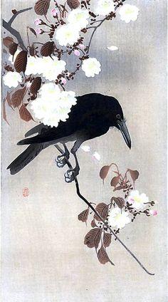 """""""Цветы и птицы"""" (Качо-э). Японский художник Охара Косон."""